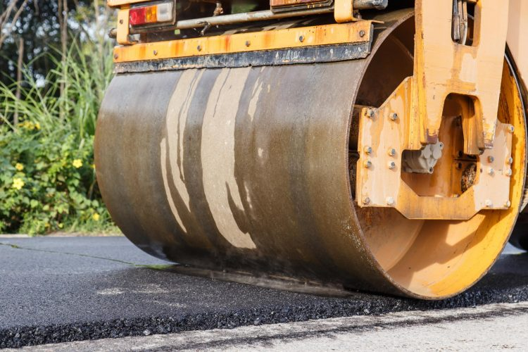 This is a picture of an asphalt driveway repair.