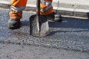 This is a picture of an asphalt driveway repair service.