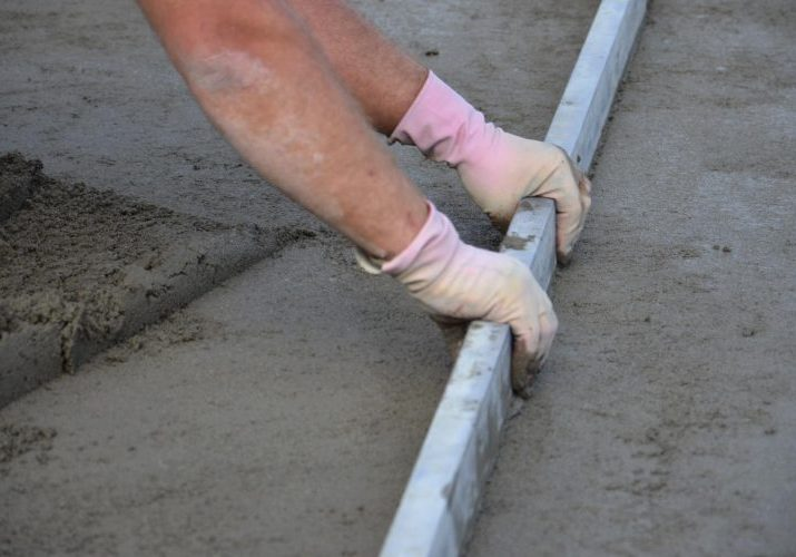 This is a picture of a concrete driveway repair service.